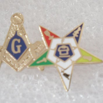 BGLO. Masonic and Order of Eastern Star Lapel Pin Hot sale 2016 Epola style Religious Type Droppost