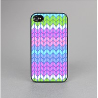 The Bright-Colored Knit Pattern Skin-Sert Case for the Apple iPhone 4-4s
