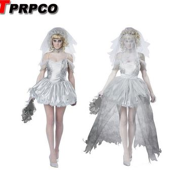 TPRPCO Women Vampire Zombie Dress Decadent Dark Ghost Bride Styling sexy Costumes Halloween costumes Cosplay for women NL147