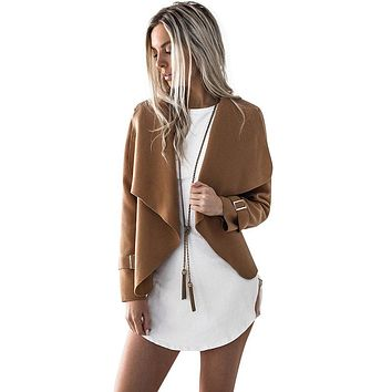 Winter Casual Open Stitch Women Coats