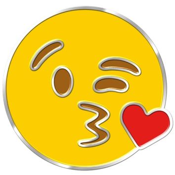 iPhone Emoji Pin | Blowing a Kiss | FAST FREE SHIPPING