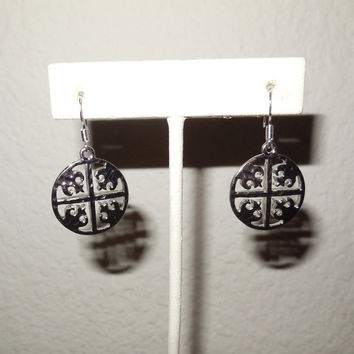 Tory Burch Inspired Silver Earrings Designer Inspired Christmas Gift NEW