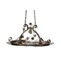 Kalco Lighting 3635AC Bon Appetit Antique Copper Two-Light Pot Rack