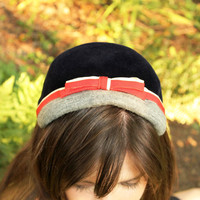 1940s Velour Hat    The Uptown Girl by SucreSucre on Etsy