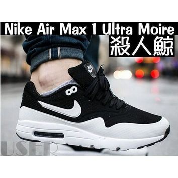 Nike Air Max 1 Ultra Moire 3M Killer whale black and white couple shoes running