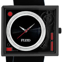 B2 – FLUD TURNTABLE WATCH – BLACK/RED