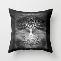 Tree of Light Throw Pillow by TreeofLifeShop