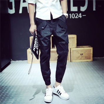 Men Casual Pants Slim Strong Character Vintage With Pocket Skinny Pants [6541176963]