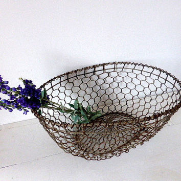 Antique French Oyster Gathering Basket