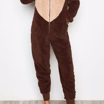 MONKEY PLUSH ZIP-UP Onesuit