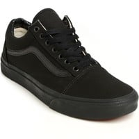 Vans Old Skool Mono Black Skate Shoes (Mens)