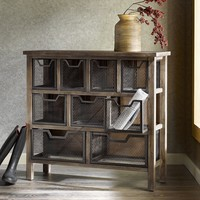 Renate CIRQUE Accent Metal Bin Console Table | Overstock.com Shopping - The Best Deals on Coffee, Sofa & End Tables