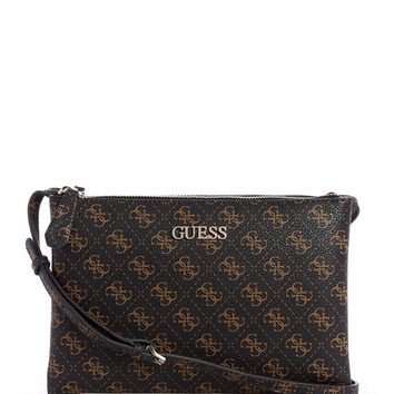 Maci Mini Double-Zip Crossbody at Guess