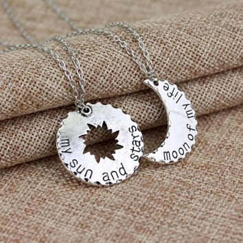 ONETOW My sun and stars''Moon of my life' Necklace Accessory [9535611076]