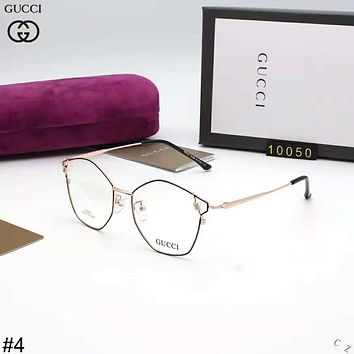 GUCCI 2018 new polygon ultra light men and women glasses frame high-end optical frame #4