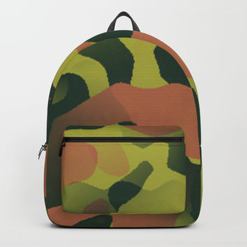 Green and Brown Camouflage Backpack by 11penguingirl
