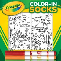 Color-In Socks Dinosaur Safari