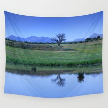 """Blue hour. Blue tree."" Wall Tapestry by Guido Montañés"