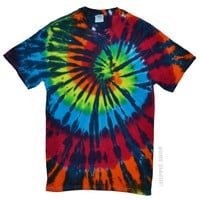 Rainbow Stained Glass Tie Dye T Shirt on Sale for $16.99 at HippieShop.com