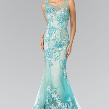 Glamorous Lace Mermaid Prom dress #GL2335