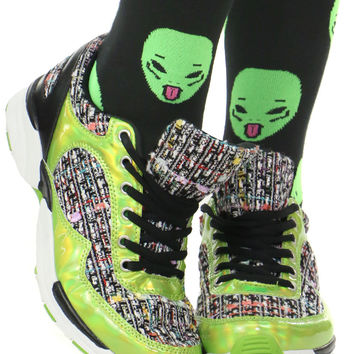 SLIME LIME TWEED SNEAKER