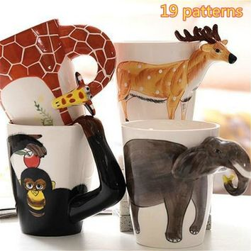 Hand-painted Creative 3D Animal New Ceramic Mug Cup Ceramic Coffee Cup