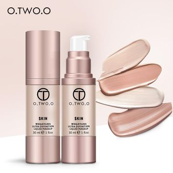 O.TWO.O 4Colors Make Up Foundation Beauty Waterproof Flawless Coverage Base Cosmetics Liquid Foundation Cream Makeup Primer