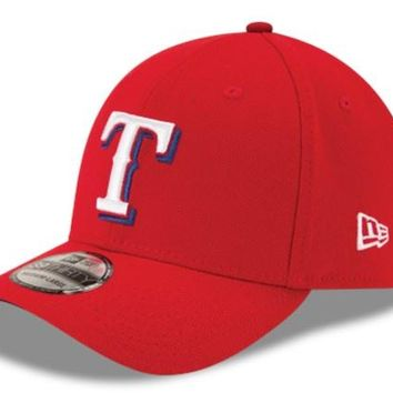 Mens MLB Texas Rangers Red Alternate Team Classic New Era 39Thirty Flex Fit Cap
