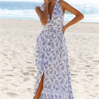 Cherry On Top Maxi Dress White