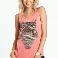 OWL GRAPHIC MUSCLE TANK