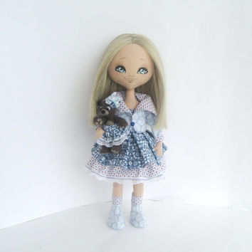 Art cloth Doll Collectible Svetlana - Textile, Fiber, OOAK