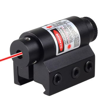 Hunting Tactical Mini Red Laser Sight Fit For Rifle Airsoft with 20mm Weaver Picatinny Rail