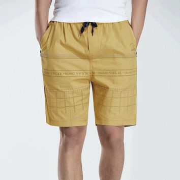 2017 Summer Casual Shorts Men Cotton Straight Sim Fit Knee Length High Quality Solid Shorts Youth Clothing Plus Size Large 4XL