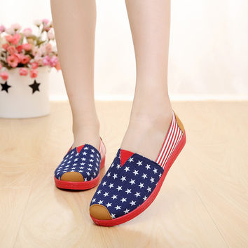 Fashion Low-Cut Print Patchwork Sneakers