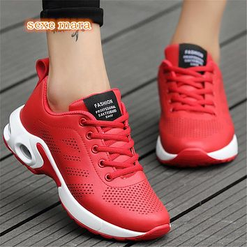 Women's Lightweight  Air Cushioned Breathable Athletic Tennis Shoes
