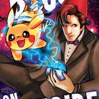 Doctor Who vs Pokemon 11x17 Poster (Matt Smith 11th Doctor and Pikachu)