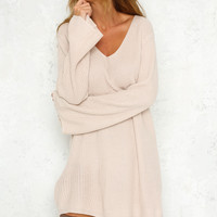 Better Than Words Dress Beige