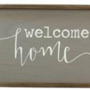 Wood Welcome Home Box Sign