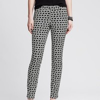 Banana Republic Womens Sloan Fit Dot Slim Ankle Pant