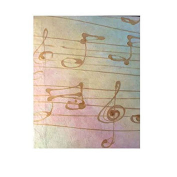 Fitzcardlo Handmade Ombre Paper Musical Note Journal