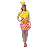 French Fries Dress Costume - Adult (Red)