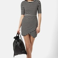 Petite Women's Topshop Stripe Body-Con Dress