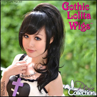 Gothic Lolita Wigs®  Pixie™ Collection - Ponytail 2 (Black)- 00088