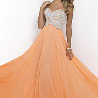 Long Strapless Sweetheart Dress by Blush