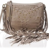 BIG BUDDHA Lolita Fringe Cross-Body Bag