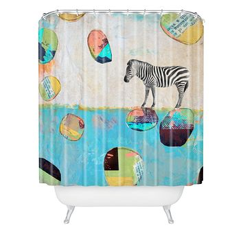 Natalie Baca Abstract Zebra Shower Curtain