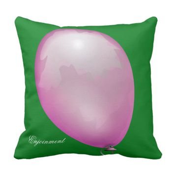 Violet toy balloon funny unique throw pillow