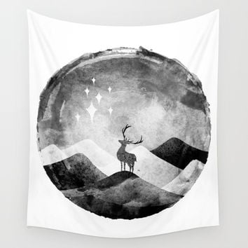 Starry Night Wall Tapestry by yeohgh