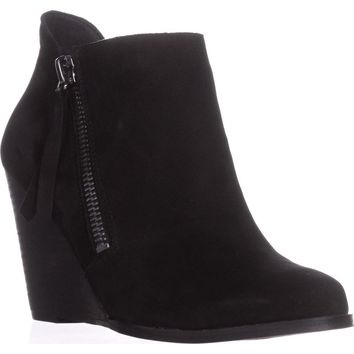 Jessica Simpson Carnivela Wedge Ankle Boots, Black Suede, 10 US / 40 EU