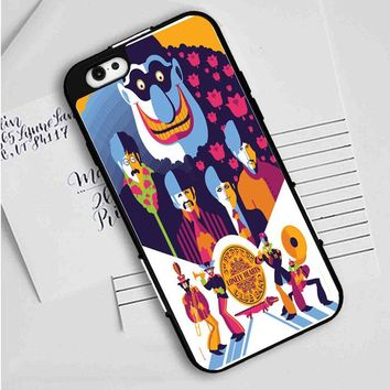 Beatles (yellow submarine on blue) iPhone Case